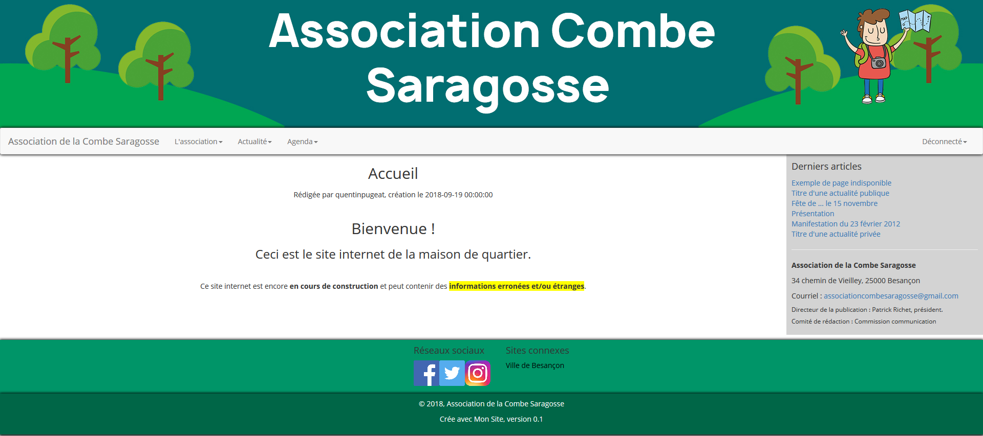 Illustration du site internet de l'association de la Combe Saragosse